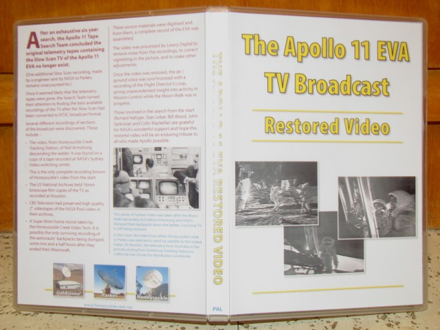Apollo 11 Restored EVA broadcat - DVD cover