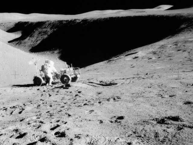 David Scott at Hadley Rille, 1st EVA