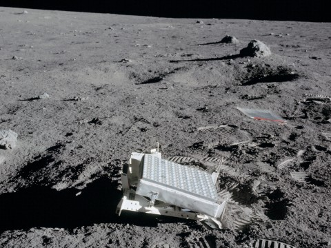Laser reflector left on the moon by Apollo 14